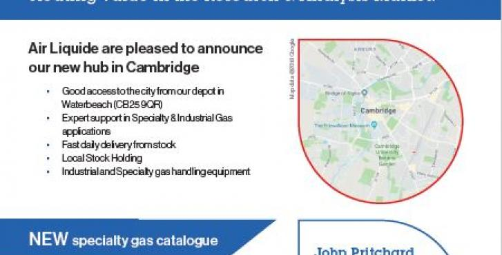 Air Liquide – New Cambridge hub & launch of the Specialty Gas online catalogue