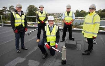"Exeter Science Park marks another milestone with the ""topping out"" of a new net-zero carbon building"
