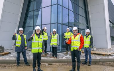 MEPC CEO visits flagship industrial development at Silverstone Park