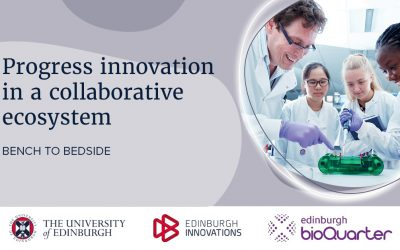 Edinburgh BioQuarter and Edinburgh Innovations announce Progress innovation in a collaborative ecosystem webinar