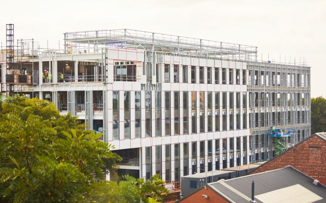 Base at Manchester Science Park tops out